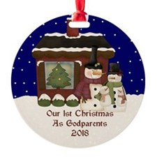 1St Christmas As Godparents 2018 Ornament