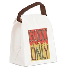 Good Vibes Only Color Canvas Lunch Bag