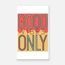 Good Vibes Only Color Rectangle Car Magnet
