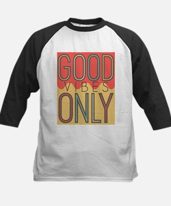 Good Vibes Only Color Kids Baseball Jersey