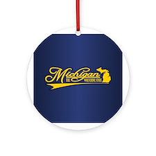 Michigan State of Mine Ornament (Round)