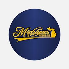 "Michigan State of Mine 3.5"" Button"