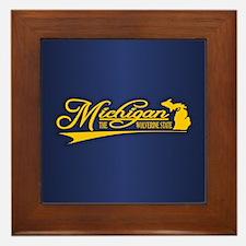 Michigan State of Mine Framed Tile