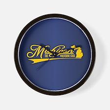 Michigan State of Mine Wall Clock