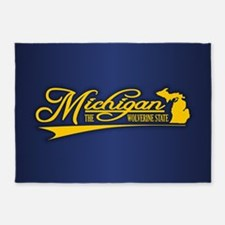 Michigan State of Mine 5'x7'Area Rug
