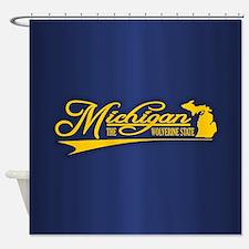 Michigan State of Mine Shower Curtain