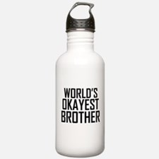 Worlds Okayest Brother BFF Design Water Bottle