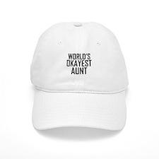 Worlds Okayest Aunt Baseball Baseball Cap