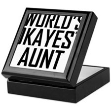 Worlds Okayest Aunt Keepsake Box