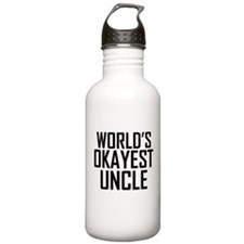 Worlds Okayest Uncle Water Bottle