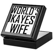 Worlds Okayest Wife Keepsake Box