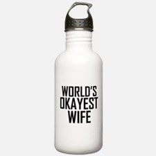 Worlds Okayest Wife Water Bottle