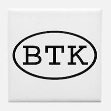 BTK Oval Tile Coaster
