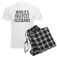 Worlds Okayest Husband Pajamas