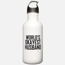 Worlds Okayest Husband Water Bottle