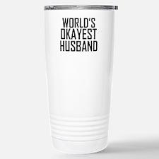 Worlds Okayest Husband Travel Mug