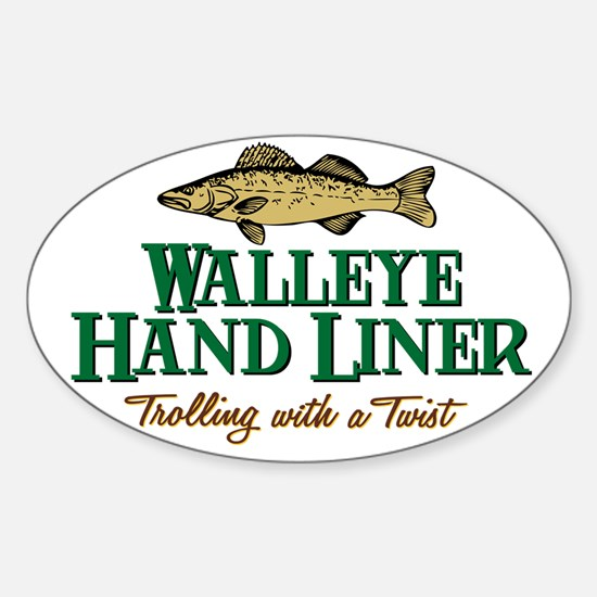 Walleye Hand Liner Oval Decal