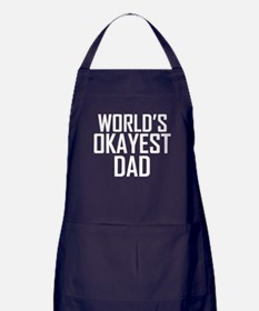 Worlds Okayest Dad Apron (dark)