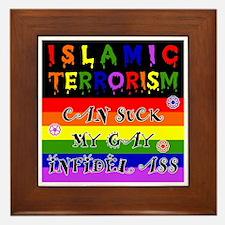 Islamic Terrorism Sucks Ass Framed Tile