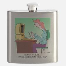 Computer Cartoon 8986 Flask