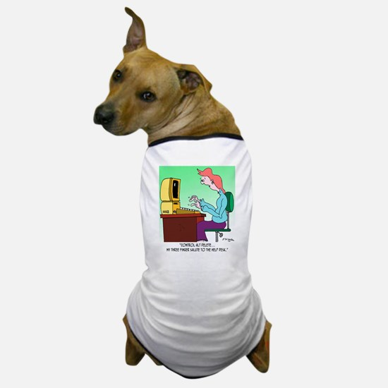 Computer Cartoon 8986 Dog T-Shirt
