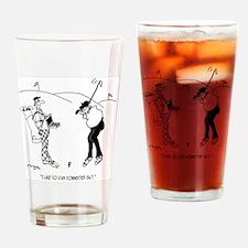 Golf Cartoon 8335 Drinking Glass