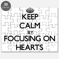Keep Calm by focusing on Hearts Puzzle
