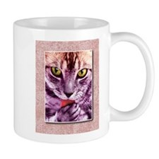 Purple Kitty Cat Has a Flavor Photo Mugs