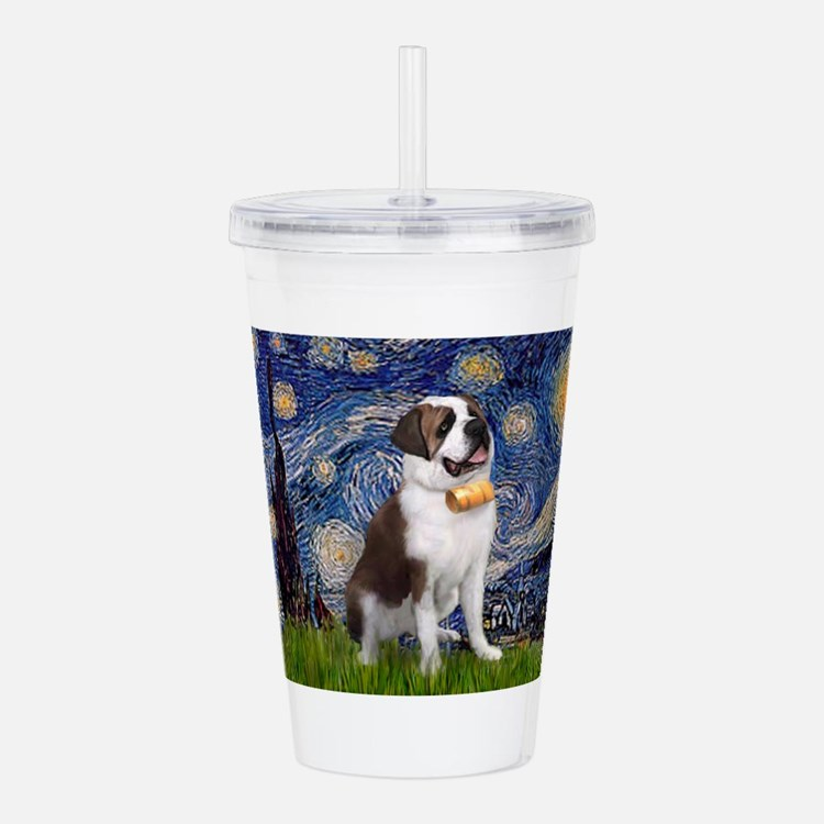 card-Starry-StBernard2.png Acrylic Double-wall Tum