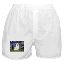 5.5x7.5-Starrynight-Samoyed1.png Boxer Shorts