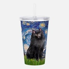 Schipperke 2 - Starry Night.png Acrylic Double-wal