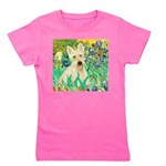 Irises / Scottie (w) Girl's Tee