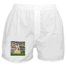 Scottish Terrier (W5) - Lilies 2.png Boxer Shorts