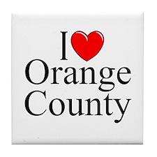 """I Love Orange County"" Tile Coaster"