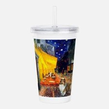 810-Cafe-Sheltie2.png Acrylic Double-wall Tumbler