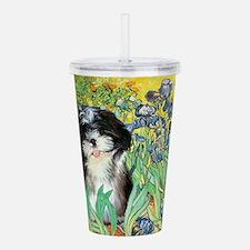Irises - Shih Tzu 12.png Acrylic Double-wall Tumbl