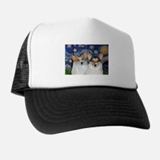 5x7-Starry-CorgiPairheads.png Trucker Hat