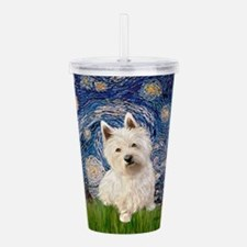 MP-STARRY-Westie1.png Acrylic Double-wall Tumbler