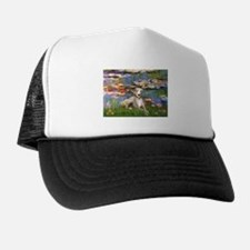 TILE-Lilies2-Whippet2.png Trucker Hat