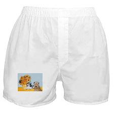 Sunflowers/PBGV + Wheaten T Boxer Shorts