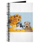 Sunflowers/PBGV + Wheaten T Journal