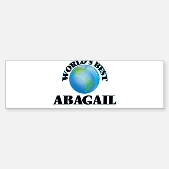 World's Best Abagail Bumper Car Car Sticker