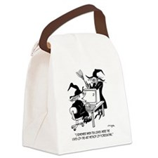 Witch Cartoon 4864 Canvas Lunch Bag