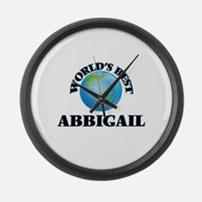 World's Best Abbigail Large Wall Clock