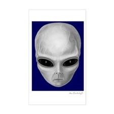 Alien Stare Rectangle Decal