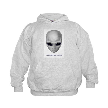 Alien Stare Kids Hoodie (Front & Back Images)
