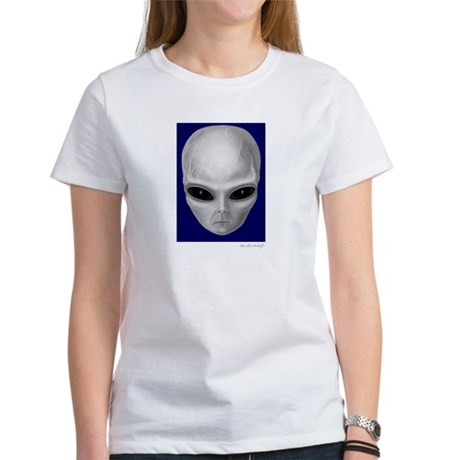 Alien Stare Women's T-Shirt (Front & Back Images)