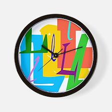 Initial Desigb (L) Wall Clock
