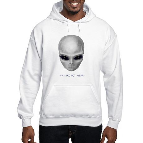 "Alien ""You Are Not Alone"" Grey Hooded Sweatshirt"
