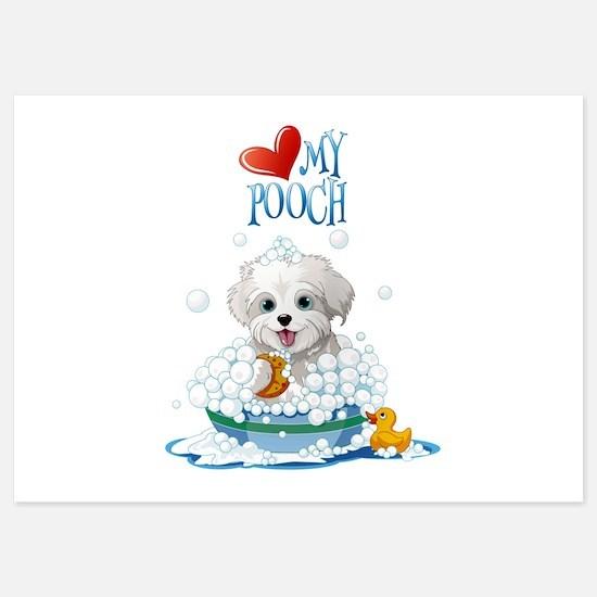 Love My Pooch- 5x7 Flat Cards